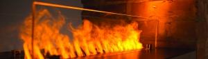 myfirebox mit Akzentfeuer in Betonhülle