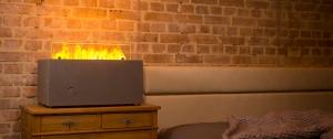 efecto myfirebox mit Akzentfeuer bei Sofabett